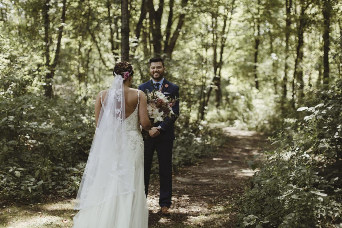 Sarah + Ryan's Natural Vineyard Wedding