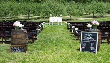 Wine Barrel Chalkboard Vineyard Wedding Rentals