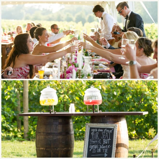 welcome drink, wedding drinks
