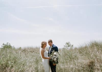 dune grass wedding photo