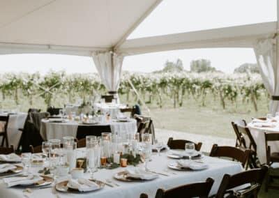 square wedding table