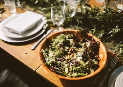 salad wedding menu