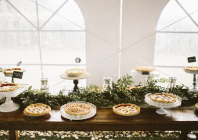locally sourced wedding pies