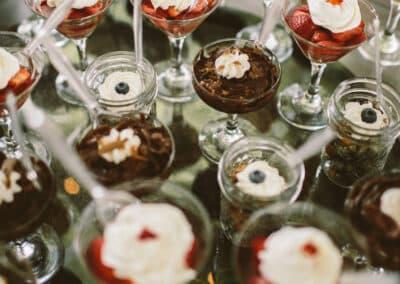individual wedding desserts