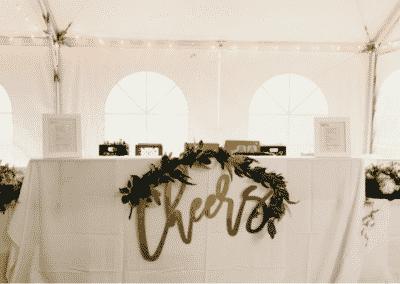 wedding bar decoration