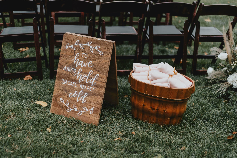 blanket wedding favors
