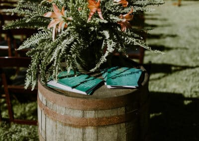 wine barrel wedding ceremony