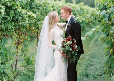 wedding photo in vines