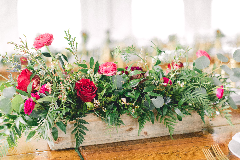rustic floral centerpiece