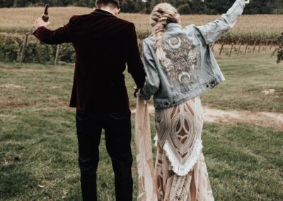 boho wedding attire
