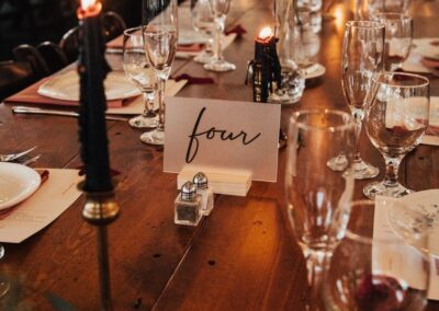 centerpiece tapered candles