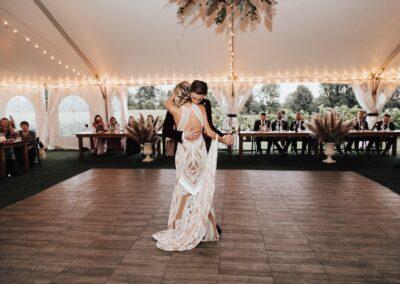 boho wedding first dance