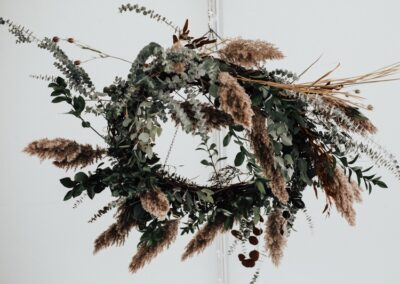 pampas grass floral chandelier